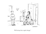 """We'll always have couples therapy."" - New Yorker Cartoon Premium Giclee Print by David Sipress"