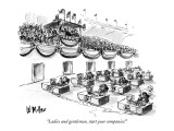 """Ladies and gentlemen, start your companies!"" - New Yorker Cartoon Premium Giclee Print by Warren Miller"