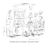 """So I blame you for everything—whose fault is that?"" - New Yorker Cartoon Premium Giclee Print by Barbara Smaller"