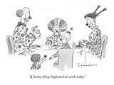 """A funny thing happened at work today."" - New Yorker Cartoon Premium Giclee Print by Danny Shanahan"