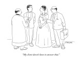 """My client doesn't have to answer that."" - New Yorker Cartoon Premium Giclee Print by Alex Gregory"