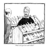 """What wine goes best with vodka?"" - New Yorker Cartoon Premium Giclee Print by Matthew Diffee"