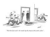 """""""Got him last week—he rounds up the strays at the water cooler."""" - New Yorker Cartoon Premium Giclee Print by Tom Cheney"""