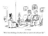 """We've been thinking a lot about what we want to do with your life."" - New Yorker Cartoon Premium Giclee Print by David Sipress"