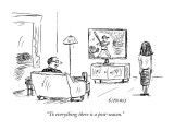 """To everything there is a post-season."" - New Yorker Cartoon Premium Giclee Print by David Sipress"