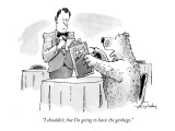 """I shouldn't, but I'm going to have the garbage."" - New Yorker Cartoon Premium Giclee Print by Mike Twohy"