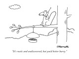 """It's rustic and undiscovered, but you'd better hurry."" - New Yorker Cartoon Premium Giclee Print by Charles Barsotti"