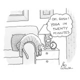 """Oh, gosh! Yoga in twenty minutes."" - New Yorker Cartoon Premium Giclee Print by Leo Cullum"