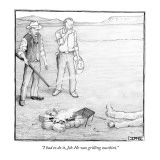 """I had to do it, Jeb. He was grilling zucchini."" - New Yorker Cartoon Premium Giclee Print by Matthew Diffee"