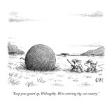 """""""Keep your guard up, Willoughby. We're entering big-cat country."""" - New Yorker Cartoon Premium Giclee Print by Christopher Weyant"""