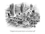 """I dropped twelve pounds the first week and kept it off!"" - New Yorker Cartoon Premium Giclee Print by Lee Lorenz"