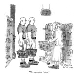 """No, we are not twins."" - New Yorker Cartoon Premium Giclee Print by Marisa Acocella Marchetto"