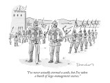 """""""I've never actually stormed a castle, but I've taken a bunch of siege-man…"""" - New Yorker Cartoon Premium Giclee Print by Danny Shanahan"""