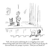 """O.K., the role you're auditioning for is a struggling actress who's alway…"" - New Yorker Cartoon Premium Giclee Print by David Sipress"