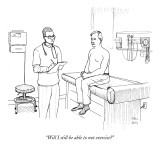"""""""Will I still be able to not exercise?"""" - New Yorker Cartoon Premium Giclee Print by Paul Noth"""