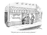 """The food is just so-so, but the security is fantastic."" - New Yorker Cartoon Premium Giclee Print by Mike Twohy"