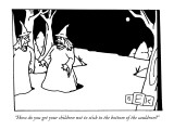 """How do you get your children not to stick to the bottom of the cauldron?"" - New Yorker Cartoon Premium Giclee Print by Bruce Eric Kaplan"