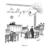 &quot;Objection.&quot; - New Yorker Cartoon Premium Giclee Print by Tom Cheney