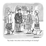 """Say, buddy—how about a little something for the landing?"" - New Yorker Cartoon Premium Giclee Print by C. Covert Darbyshire"