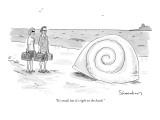 """It's small, but it's right on the beach."" - New Yorker Cartoon Premium Giclee Print by Danny Shanahan"
