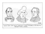 Lincoln Goes Goth While Washington Favors Rockabilly and Hamilton Remains… - New Yorker Cartoon Premium Giclee Print by Jack Ziegler