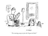 """I'm running away to join the Cirque du Soleil."" - New Yorker Cartoon Premium Giclee Print by David Sipress"