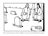 """""""You can't keep living in the past. Maybe it's time you started killing ot…"""" - New Yorker Cartoon Premium Giclee Print by Bruce Eric Kaplan"""