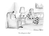 """I'm selling you on eBay."" - New Yorker Cartoon Premium Giclee Print by Victoria Roberts"
