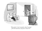 """""""Oh, perfect. I can't remember what I wanted from the basement, and you've…"""" - New Yorker Cartoon Premium Giclee Print by Pat Byrnes"""
