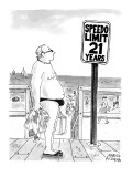 Speedo Limit: 21 Years - New Yorker Cartoon Premium Giclee Print by Marisa Acocella Marchetto