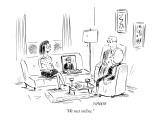 """We met online."" - New Yorker Cartoon Premium Giclee Print by David Sipress"