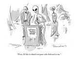 """First, I'd like to thank everyone who believed in me."" - New Yorker Cartoon Premium Giclee Print by Danny Shanahan"