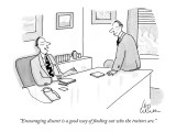 """""""Encouraging dissent is a good way of finding out who the traitors are."""" - New Yorker Cartoon Premium Giclee Print by Leo Cullum"""
