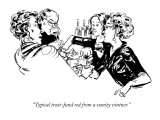 """Typical trust-fund red from a vanity vintner."" - New Yorker Cartoon Premium Giclee Print by William Hamilton"