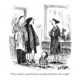 """Tracy could be a good little poet someday if she'd lose some weight."" - New Yorker Cartoon Premium Giclee Print by Robert Weber"