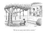 """He has too many make-believe enemies."" - New Yorker Cartoon Premium Giclee Print by Tom Cheney"