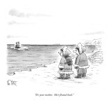 """""""It's your mother.  She's floated back."""" - New Yorker Cartoon Premium Giclee Print by Christopher Weyant"""