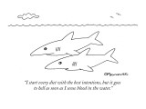 """""""I start every diet with the best intentions, but it goes to hell as soon …"""" - New Yorker Cartoon Premium Giclee Print by Charles Barsotti"""