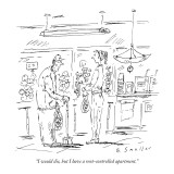 """I would die, but I have a rent-controlled apartment."" - New Yorker Cartoon Premium Giclee Print by Barbara Smaller"