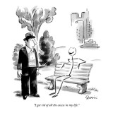 """I got rid of all the excess in my life."" - New Yorker Cartoon Premium Giclee Print by Eldon Dedini"
