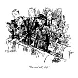 """She could really shop."" - New Yorker Cartoon Premium Giclee Print by William Hamilton"