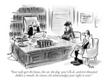 """Your wife gets the house, the car, the dog, your I.R.A., and ten thousand…"" - New Yorker Cartoon Premium Giclee Print by Lee Lorenz"