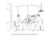 """Can anyone remember what our core business is?"" - New Yorker Cartoon Premium Giclee Print by Richard Cline"