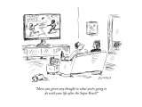 """Have you given any thought to what you're going to do with your life afte…"" - New Yorker Cartoon Premium Giclee Print by David Sipress"
