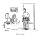 """Break something."" - New Yorker Cartoon Premium Giclee Print by Tom Cheney"