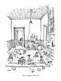 """I'm working on Plan B."" - New Yorker Cartoon Premium Giclee Print by George Booth"