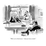 """Well, we've licked taxes—that just leaves death."" - New Yorker Cartoon Premium Giclee Print by Lee Lorenz"