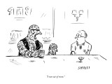 """I ran out of room."" - New Yorker Cartoon Premium Giclee Print by David Sipress"