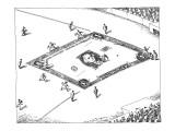 Baseball game on a field decorated like a dollar bill. - New Yorker Cartoon Premium Giclee Print by John O'brien