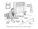 """Melanie, find me a little pro-bono case to cleanse my palate."" - New Yorker Cartoon Premium Giclee Print by Leo Cullum"